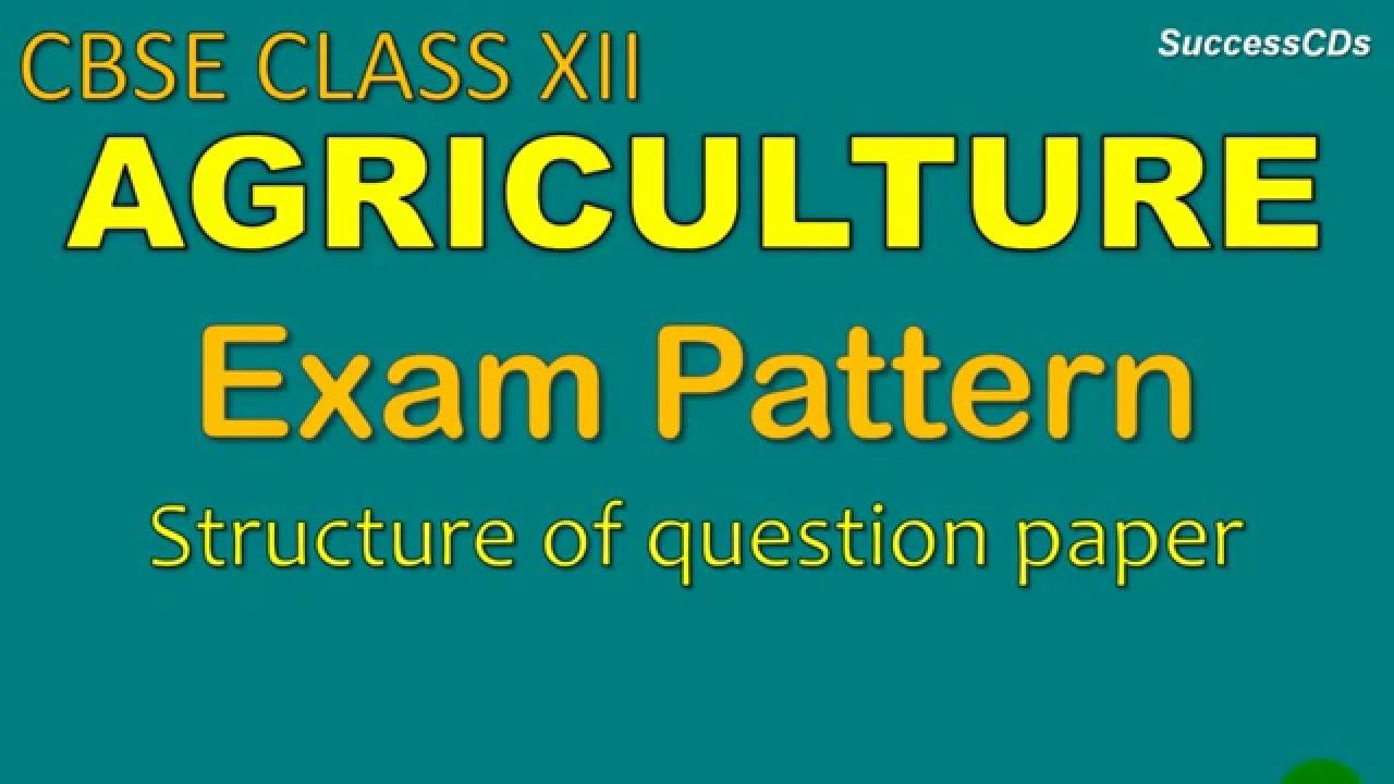 Agriculture 12th rbse syllabus
