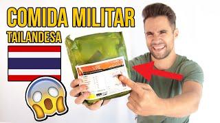 PROBANDO COMIDA MILITAR DE TAILANDIA (NO ME ESPERABA ESTO)