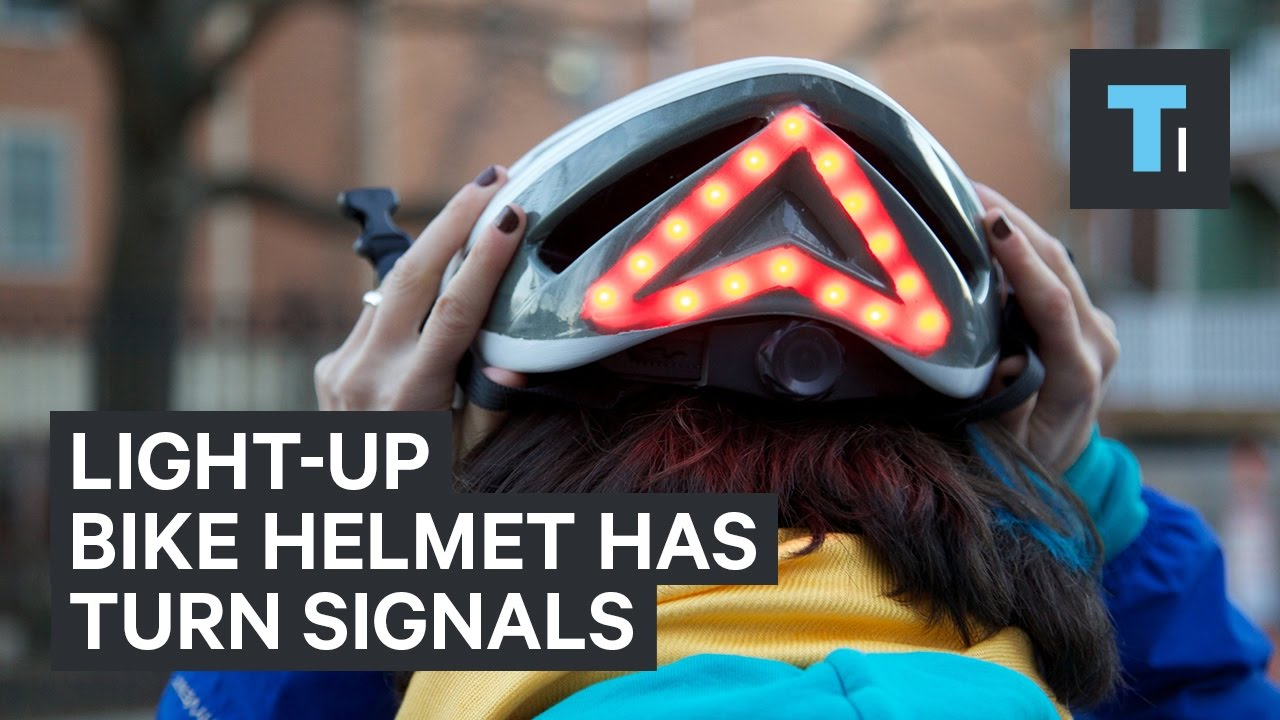 This Light Up Bike Helmet Has Built In Turn Signals Youtube