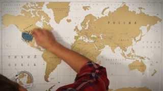 видео Стиральная карта мира в тубусе. Отзывы