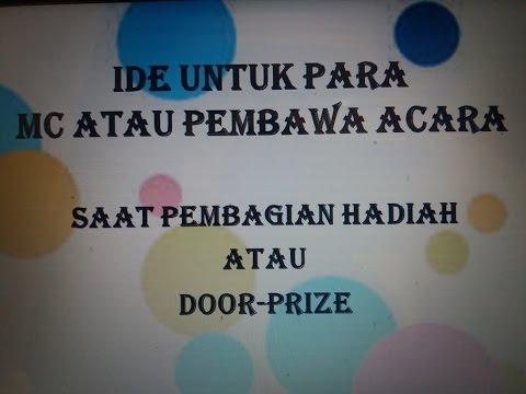 #4 Cara atau Ide bagi doorprize buat para MC Acara Panggung Sumpah Pemuda, 17 Agustusan, dll