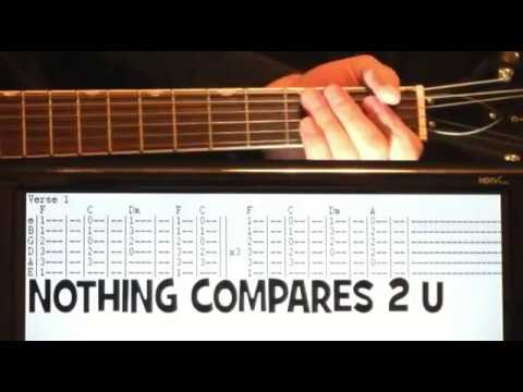 Nothing Compares To You Chords Sinead O Connor Prince Guitar Tab Lesson Youtube