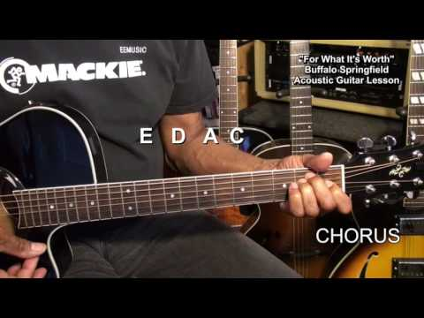 FOR WHAT IT&39;S WORTH Buffalo Springfield Guitar Lesson  EricBlackmonGuitar