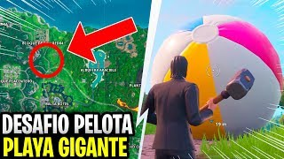 Throw a giant beach ball in different games - CHALLENGES 14 DAYS OF SUMMER FORTNITE