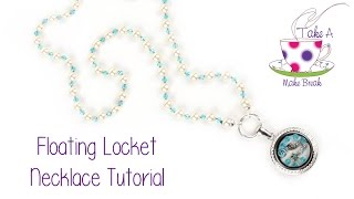 Take A Make Break with Sarah Millsop - Knotted Pearl Necklace with Floating Locket ¸.•*¨)