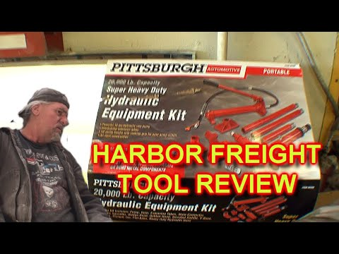 How To Use A 10 Ton Porta Power Jack - Harbor Freight Tools  EXTREME FAIL?