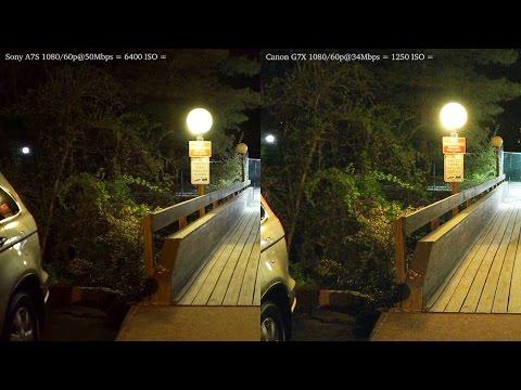 Canon G7X vs Sony A7S Low Light Video Test [iAUTO]