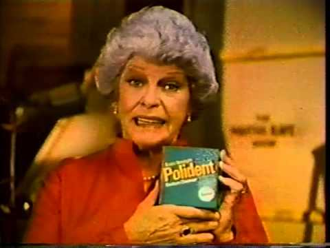 Martha Raye, Polident Backstage TV Commercial