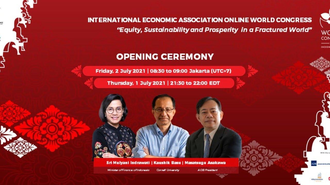 live] - international economic association - opening ceremony - youtube