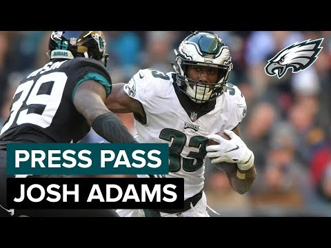 RB Josh Adams Talks About His Big Game Against Jacksonville | Eagles Press Pass