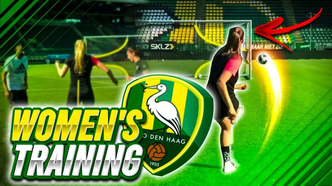 Training With Women S Pro Team Ado Den Haag Youtube