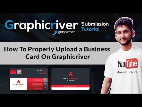 How To Properly Upload a Business Card On Graphicriver | Graphicriver Submission Tutorial #Class-02