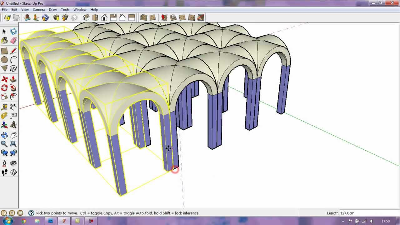 Google Sketchup Cross Vault Tutorial Youtube
