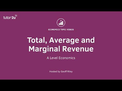 Total, Average and Marginal Revenue