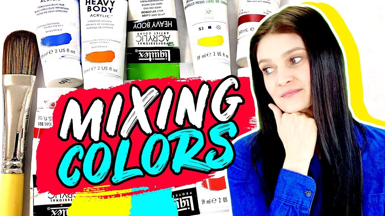How To Mix Acrylic Paint Colors for Beginners 🎨 Green ...