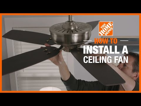 How to Install a Ceiling Fan   Lighting and Ceiling Fans   The Home Depot