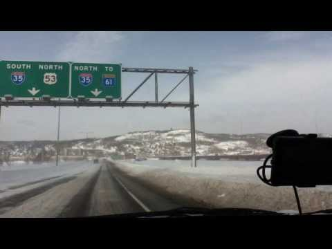 Driving from Superior, WI to Duluth, MN
