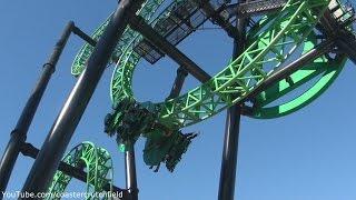 Green Lantern: First Flight (Off-ride HD) Six Flags Magic Mountain