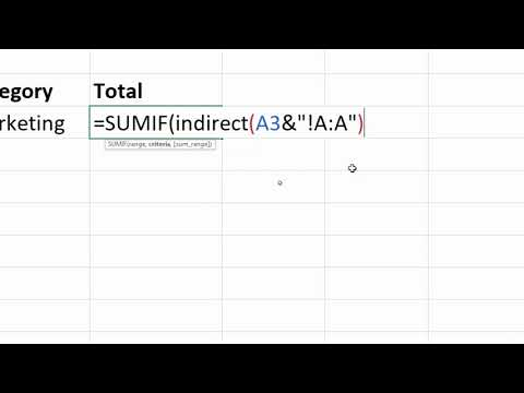 SUMIF with INDIRECT Function for Dynamic Sheet and Table References
