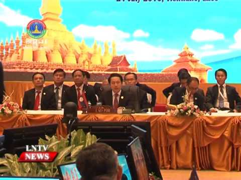 Lao NEWS on LNTV: Saleumxay Kommasith marks the achievement of Asean establishment.9/8/2016