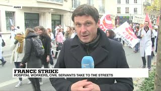 French hospital workers take to the streets over lack of resources, manpower