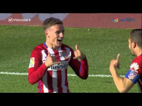 Gol de Griezmann (1-0) en el Atlético de Madrid - Rayo Vallecano, recién ingresado al campo