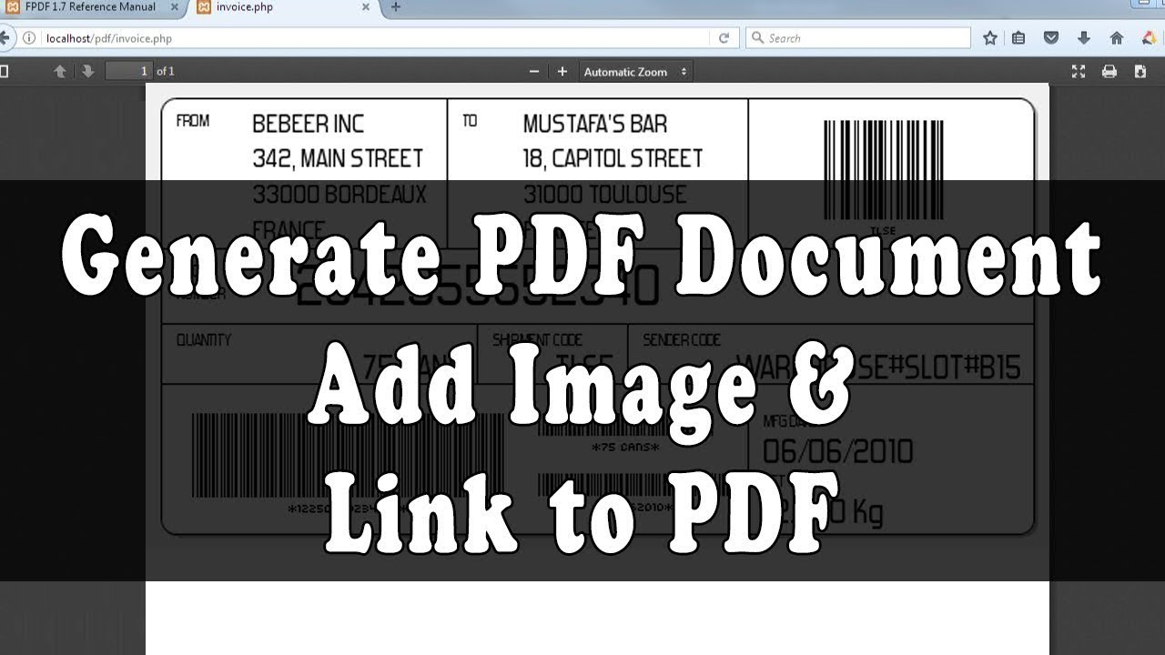 Generate PDF Document Use Image and Link in FPDF Library