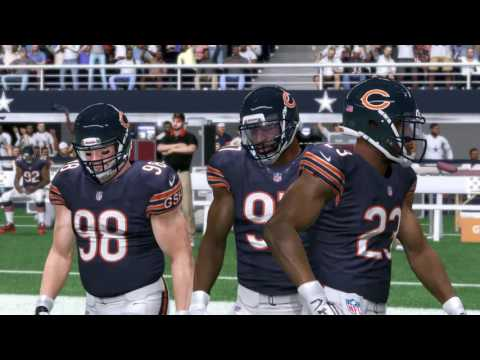 Bears vs. Cowboys (Week 3) | Madden 17 Sims | Sunday Night Football