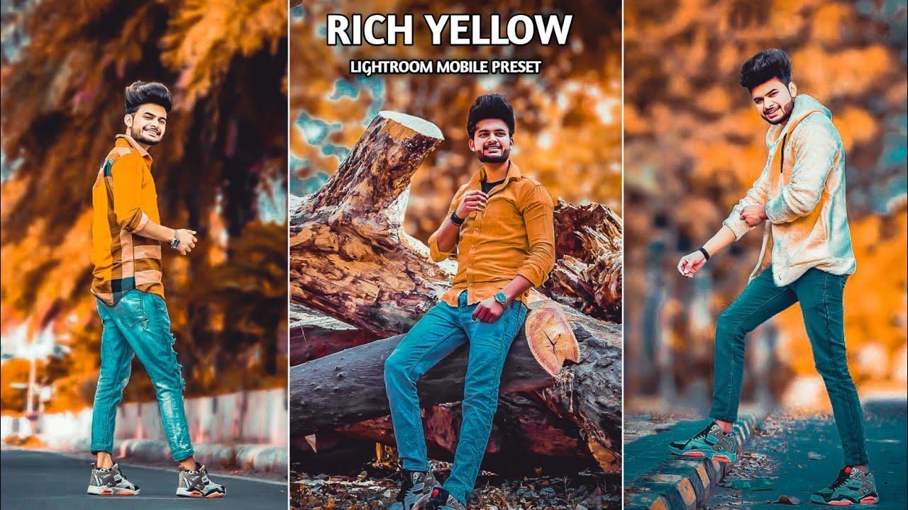 Lightroom Mobile Rich Yellow Presets   Lightroom Presets Dng   Preset Download Free   Preset 2021