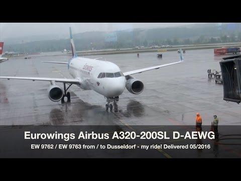 Eurowings Airbus A320 D-AEWG EW 9763 Zurich-Dusseldorf Trip Report