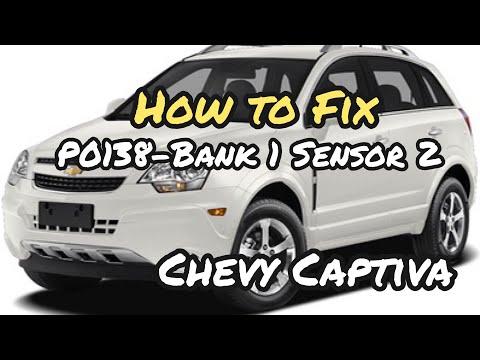 How To Replace Oxygen Sensor On A 2012 Chevy Captiva P0138- Bank 1 Sensor 2