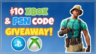 10 Dollar Playstation & Xbox Code Giveaway! (ended) Fortnite Live Stream!