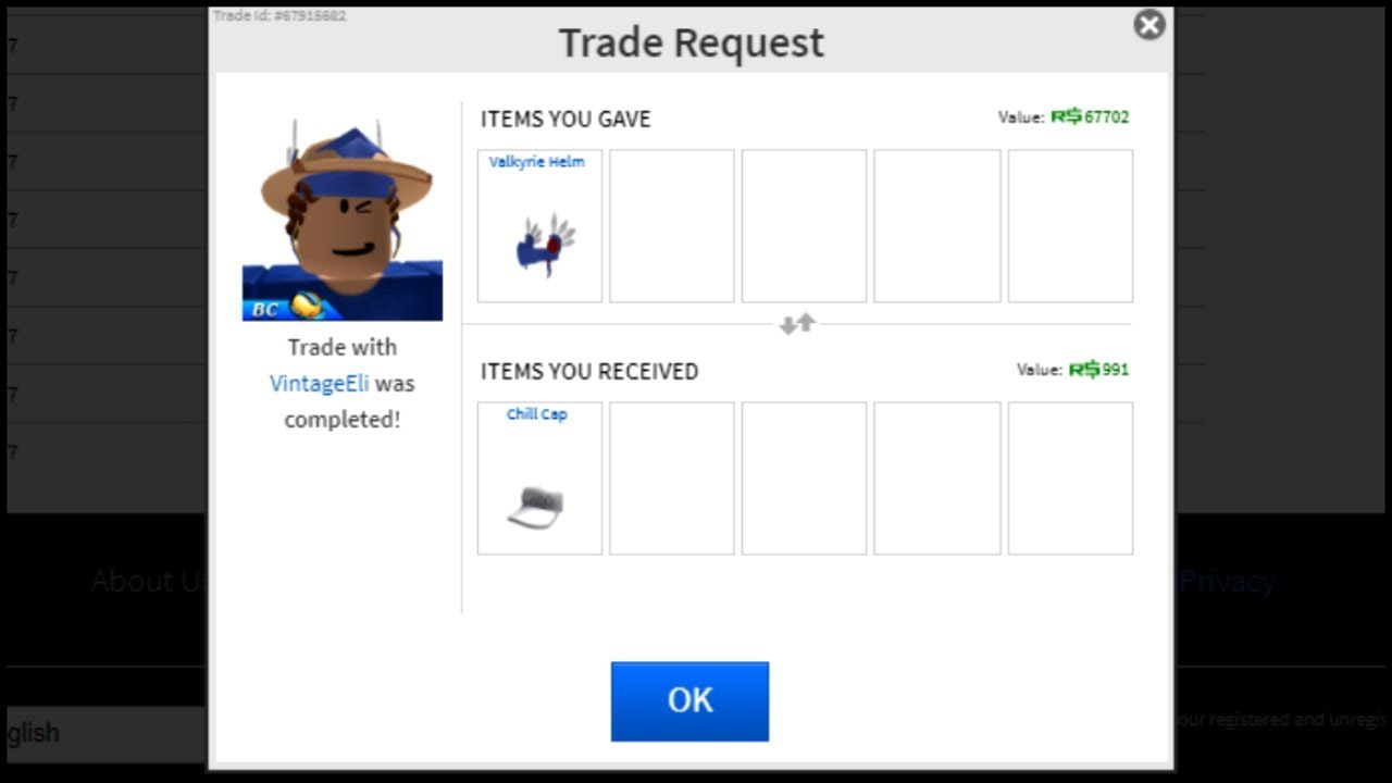 How To Send A Trade In Roblox 2018 Rarest Valk On Roblox Roblox Trading Video By Zyzr