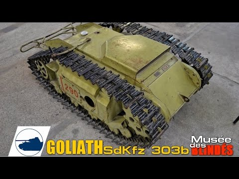 Goliath Walk-around -  Tracked Mine - SdKfz 303b - Saumur Tank Museum.