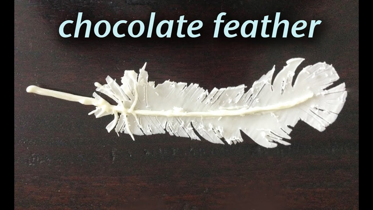 How to make fondant feathers youtube - Chocolate Feather Decoration Garnish How To Cook That Ann Reardon Youtube