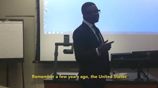 Thione Niang lecturing at Cornell University-USA