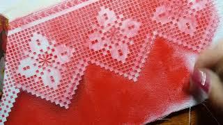 Gambar cover Falso barrado de crochê com stencil e rosas - Parte 1