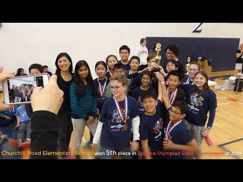 Churchill Road Elementary School won 5th place in 2019 Science Olympiad