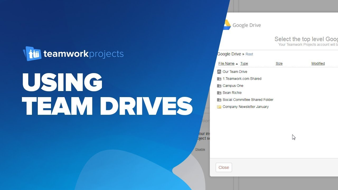 teamwork projects using team drives google drive file integration