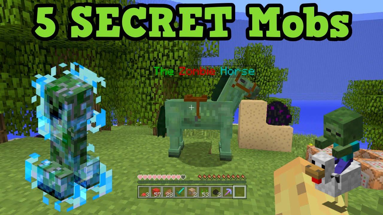 minecraft xbox 360 ps3 5 secret mobs youtube. Black Bedroom Furniture Sets. Home Design Ideas