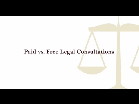 Paid vs  Free Legal Consultations