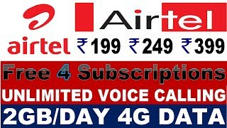 Airtel Prepaid Recharge Plans & Offers List 2019 | Airtel New Best Plans Unlimited Calling & 4G Data