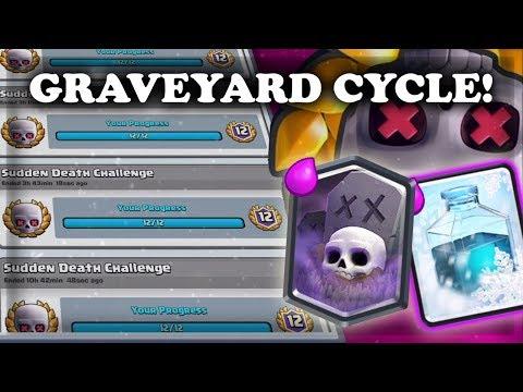Sudden Death Graveyard Freeze | 12 Wins NON STOP | Clash Royale