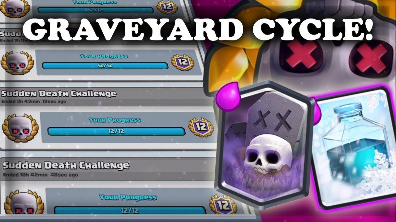 clash royale graveyard freeze decks