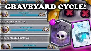Sudden Death Graveyard Freeze | 12 Wins NON STOP | Clash Royale