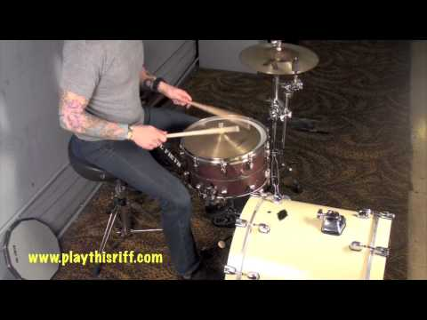 The Number 12 Looks Like You drum lesson. PlayThisRiff.com