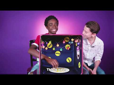 "Stranger Things Cast Plays ""What's In the Box?"""