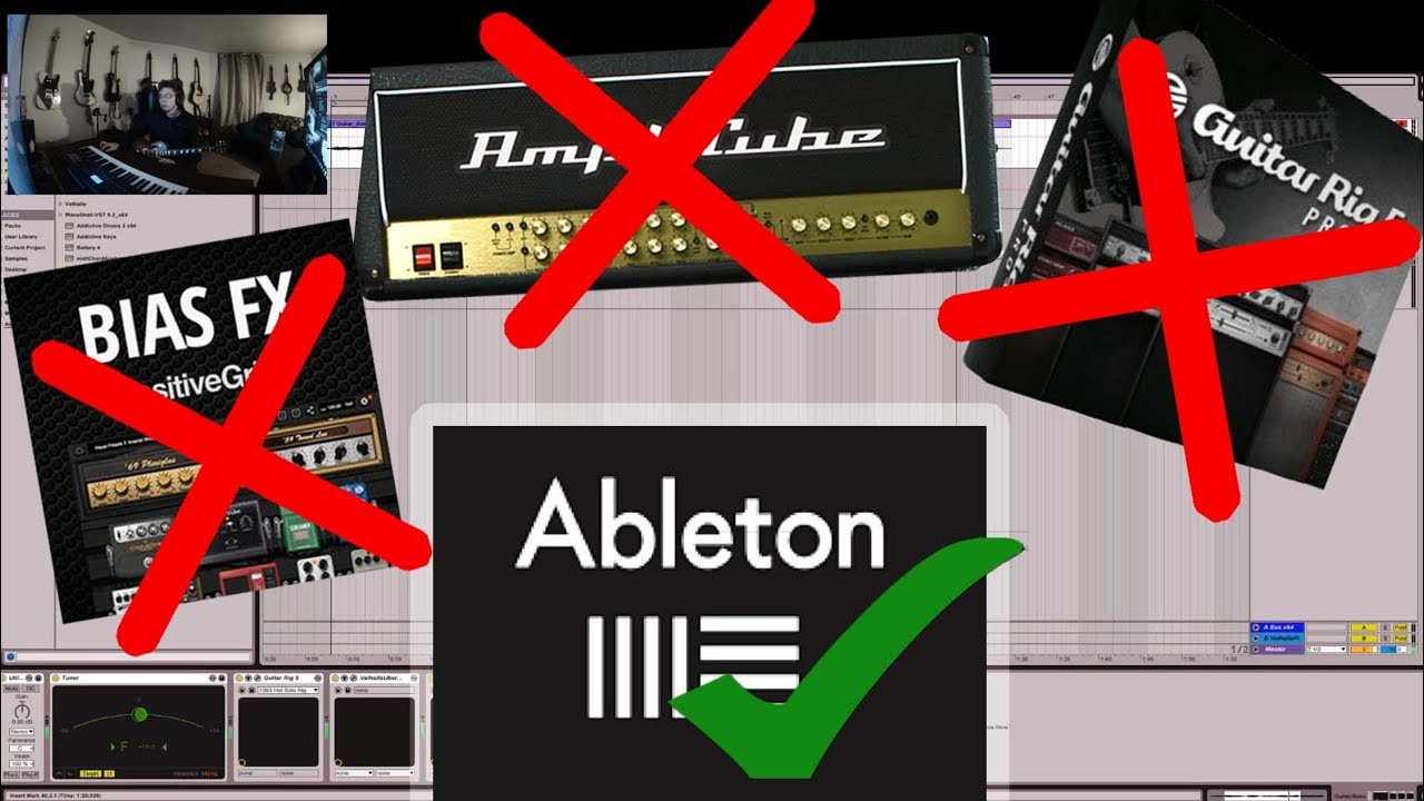 do you need an amp simulator ableton effects only guitar rig youtube. Black Bedroom Furniture Sets. Home Design Ideas
