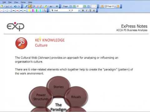 Acca P3 16 Cultural Web