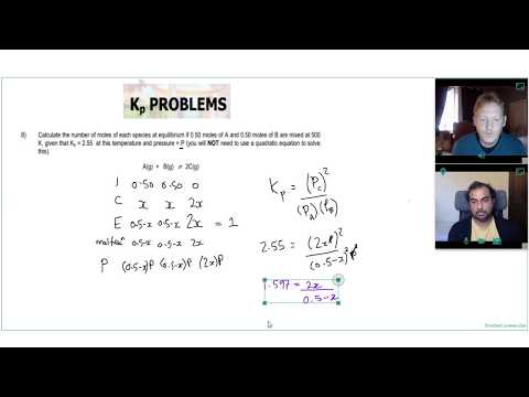 Using ALGEBRA to SOLVE EQUILIBRIUM CONSTANT Kp QUESTION 3 | A Level Chemistry Tutor